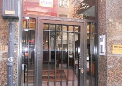Puertas de portal de forja barroteras