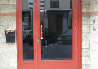 Puertas de portal de forja simple