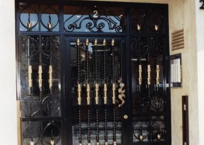 Puertas de portal de forja granada