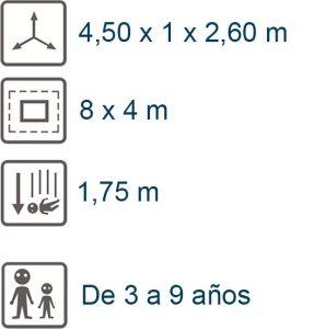 info tobogan poliester 1,75m